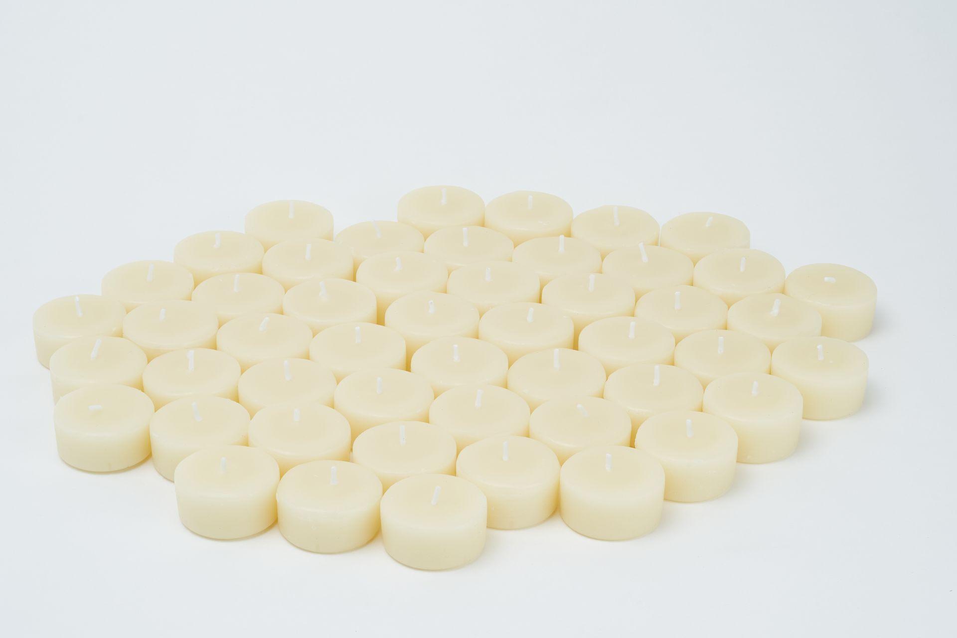 Teelichter aus 100% Bienenwachs - 50 Stk in weiß
